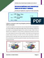 Determinación Volumétrica Del Porcentaje de Fierro en Un Suelo y Mineral