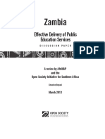 Afrimap Zambia Education Discussion Paper Wbe 5 July