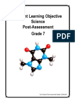 slo science grade 7 post assessment 2016-2017