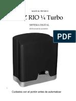 Manual Rio Turbo 14 Digital Central Facility New