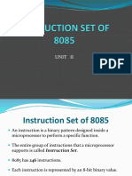 Unit 2 Instruction Set of 8085