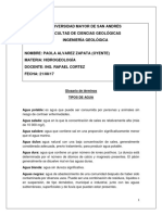 Práctica3_Paola Alvarez Z - Tipos de Agua