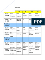 early years schedule
