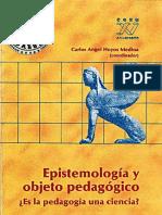 Epistemología y Objeto Pedagógico. Es La Pedagogía Una Ciencia