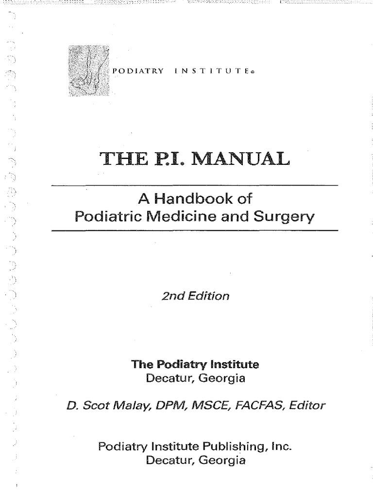 podiatry institute manual foot toe rh scribd com