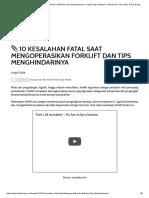 10 Kesalahan Fatal Saat Mengoperasikan Forklift Dan Tips Menghindarinya • Safety Sign Indonesia - Rambu K3, Lalu Lintas, Exit & Emegency , Label B3