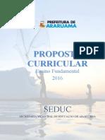 Proposta Curricular Do Ensino Fundamental - 2016 - Prefeitura de Araruama