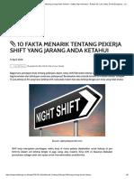 10 Fakta Menarik Tentang Pekerja Shift Yang Jarang Anda Ketahui • Safety Sign Indonesia - Rambu K3, Lalu Lintas, Exit & Emegency , Label B3