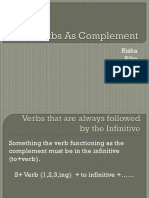 Verbs as Complement