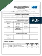 VGT-PTS-OC-001 Mov. de Tierra Confección Caminos y Excavación de Plataforma