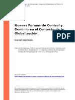 Espiniza, D. (2001). Nuevas Formas de Control y Dominio en El Contexto de La Globalización