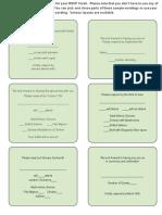 RSVP Card Sample Wordings