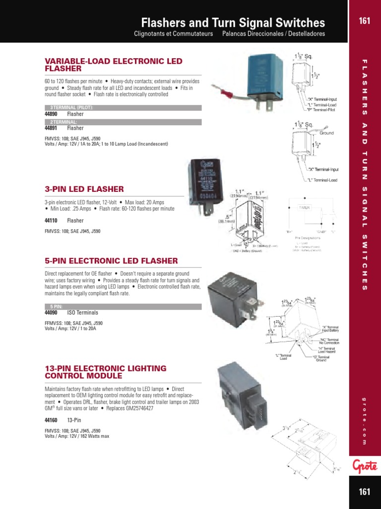 Grote Led Flasher Wiring Diagram Free Download Diagrams 44891 44890 Catalog 2016 Flashers And Turn Signal Switches Chevrolet At Simple