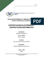 Diferencia de Los Contratos Electrónicos y Los Contratos Informáticos