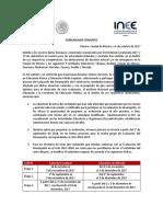 Comunicado Conjunto INEE SEP