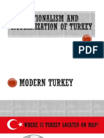 Nationalism and Modernization of Turkey