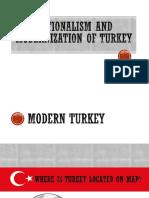 Nationalism and Modernization of Turkey