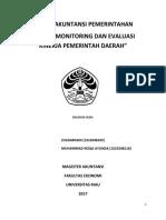 Sistem Monitoring Dan Evaluasi Kinerja Pemerintah Daerah