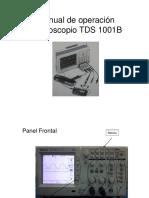 Manual de Operación Osciloscopio