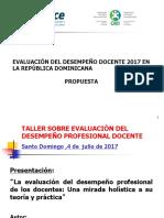 Evaluación Del Desempeño Docente en La R D.