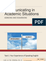 Communicating in Academic Situations
