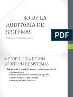Proceso de Auditoria en Sistemas