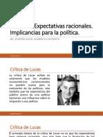 Clase 16 Expectativas Racionales-implicancias Para La Politica