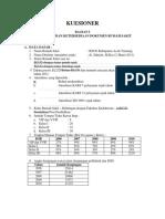 Kuesioner Data Rumah Sakit