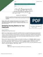 Designing Scoring Rubrics for Your Class