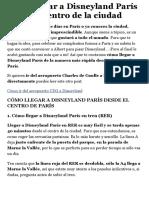 Cómo llegar a Disneyland París desde París centro | Los Traveleros