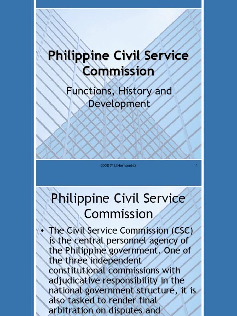 CSC ppt   Civil Service   Governance