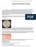 Examples of Antibiotic Sensitivity Testing Methods — Antimicrobial Resistance