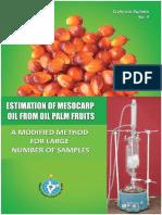Estimation of Mesocarp Oil