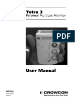 Tetra 3 Personal Multigas Monitor - User Manual (Issue 7)