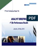 ITM Analyst Presentation Q1 2010