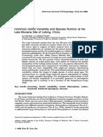 Kelley & Etler (1989) AJP - Lufeng Species Number