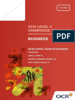 level 3 - unit 15 - developing teams in business