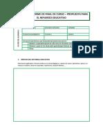 Modelo de Informe de Final de Curso
