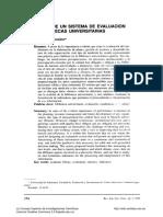 Propuesta de Un Sistema de Evaluación Para Biliotecas Universitarias- De La Mano Gonzalez