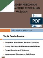 1. Manajemen Kebidanan Sebagai Metode Pemecahan Masalah