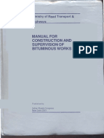 Manual for Construction and Supervision of Bituminous Works