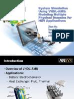 SystemSimulationUsingVHDL AMS