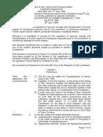 THE TRANSPLANTATION OF HUMAN ORGANS ACT, 1994 No.42 OF 1994 _THOA-1994  08 July 1994