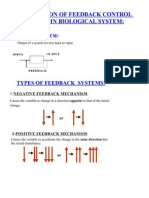 Application of Feedback Control System Biological System