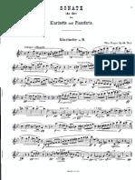 Reger Max Sonate Pour Clarinette Et Piano Op 49 No1 31320
