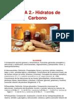 Tema 2 Hidratos de Carbono