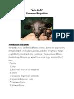 biome webquest