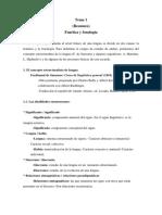 Tema 1. Resumen. Fonética y Fonología