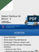 TPSA-4 Sistem Distribusi Air Minum II