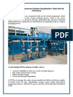 STP Plant Manufacturers Explain Equalization Tank and Its Functions
